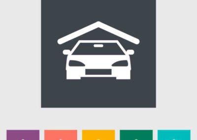 Garage icon. Vector illustration EPS.
